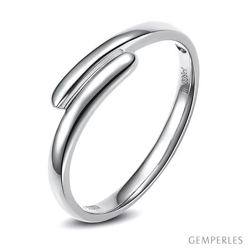 Alliance Homme. Or blanc. Diamant 0.007ct | Samson