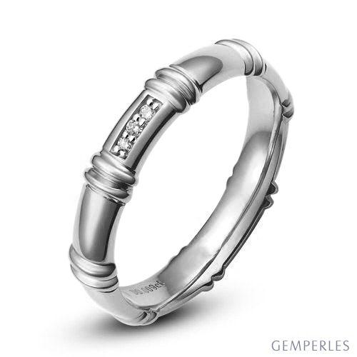 Alliance Platine - Alliance diamants pour Femme | Bambou