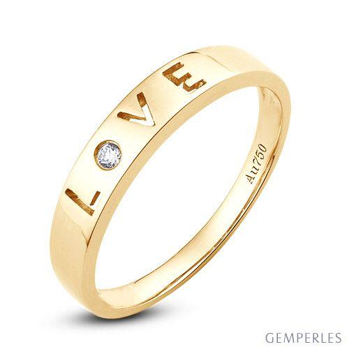 Fede Nuziale Donna Love Actually - Oro Giallo e Diamante VS/G