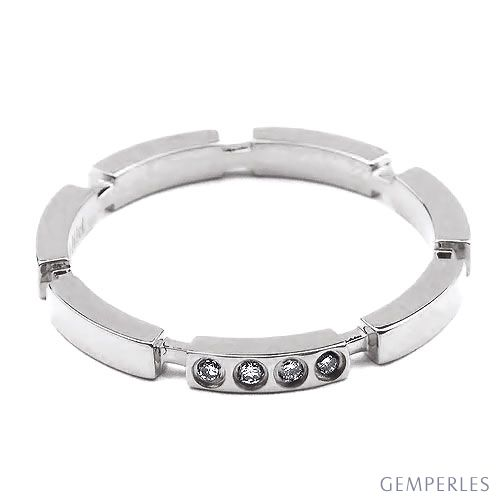 Alliance Anneau de Mariage - Alliance Femme Or Blanc et Diamants | Gemperles