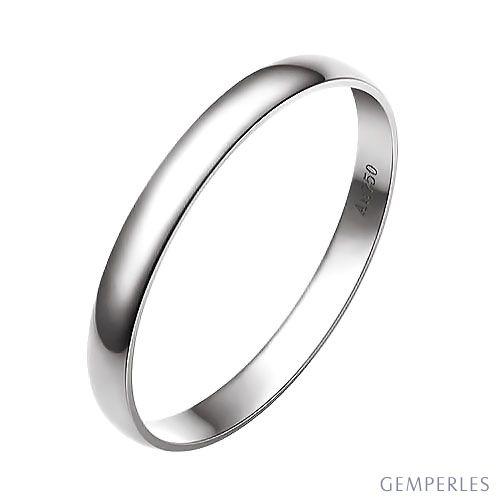 Alliance Mariage - Alliance Homme - Anneau Or Blanc 18 carats | Gemperles