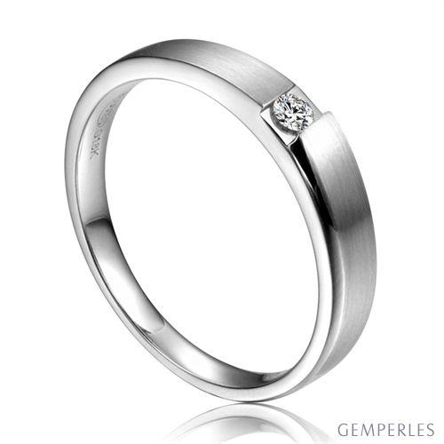 Alliance de fiançaille 2020 - Alliance pour Femme - Or blanc, diamant