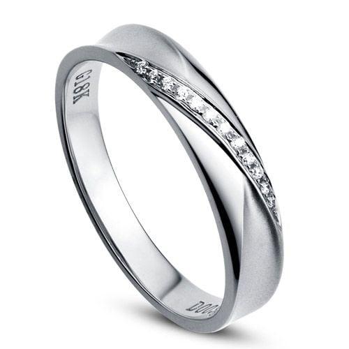 Alliance Femme. Or blanc. Diamants 0.029ct
