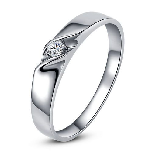 Alliance mariage en or - Alliance Femme - Or blanc 18 carats - Diamant