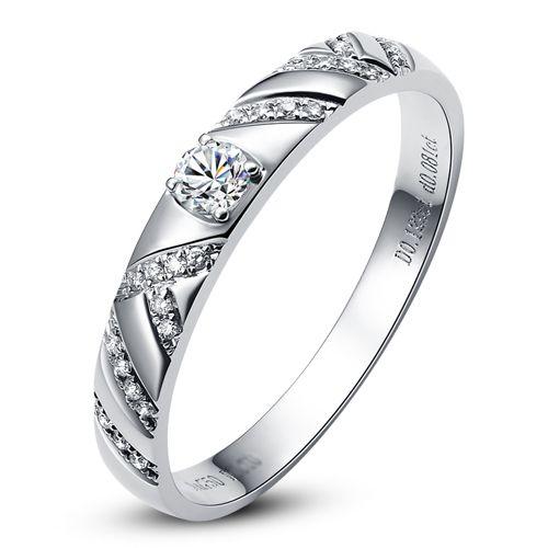 Bague Or blanc et Diamants pour femme | Toi et moi