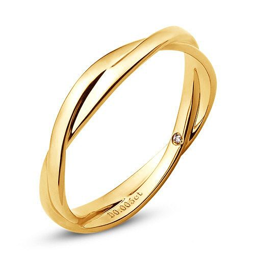 Alliance 2 anneaux - Alliance Femme - Or jaune - Diamant