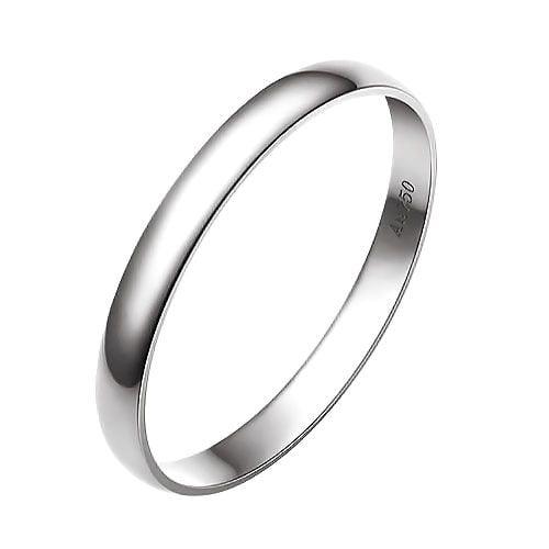 Alliance Mariage - Alliance Homme - Anneau Or Blanc 18 carats   Gemperles