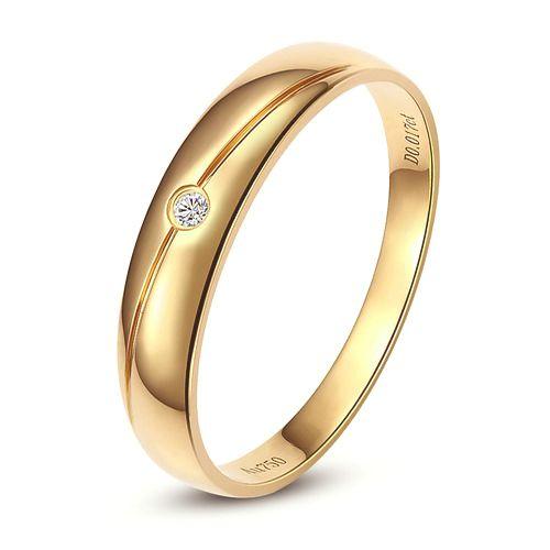 Alliance Femme. Or jaune. Diamant 0.015ct | Coralis