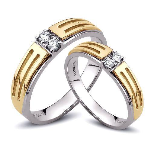 Bijouterie alliance mariage - Alliance Duo - Or blanc et jaune