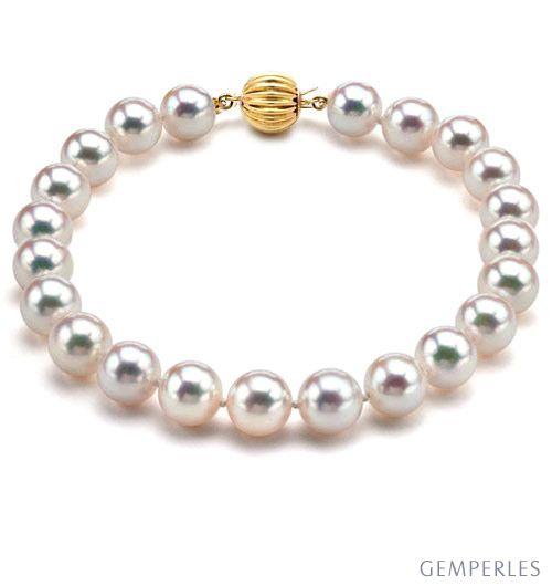 Bracelet perles Akoya Japon - Perle de culture - Eau de mer - 6.5/7mm