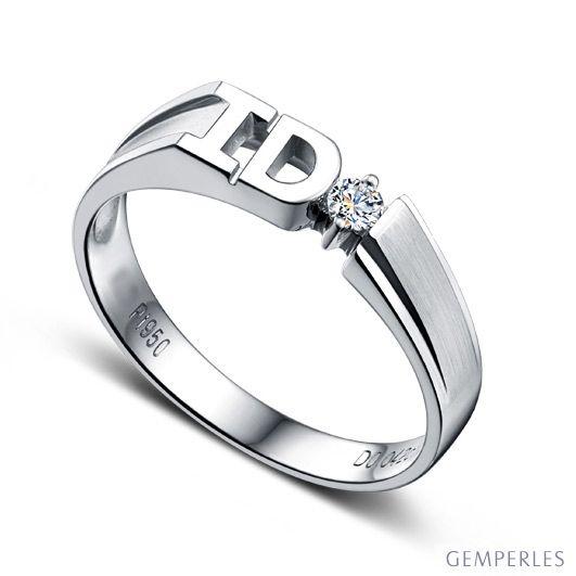 Alliance I DO - Alliance femme Or blanc - Diamant