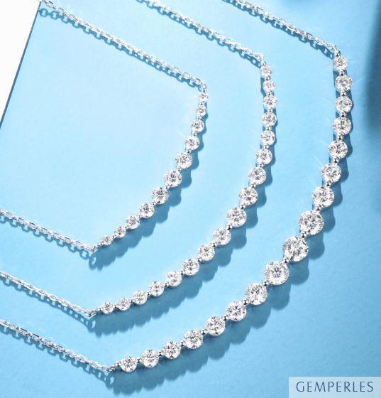 Pendentif Sourire en Or blanc et Diamants I Gemperles