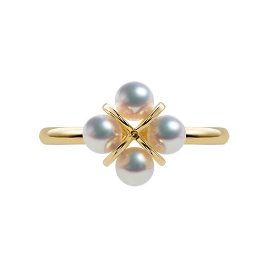 Bague trèfle 4 perles