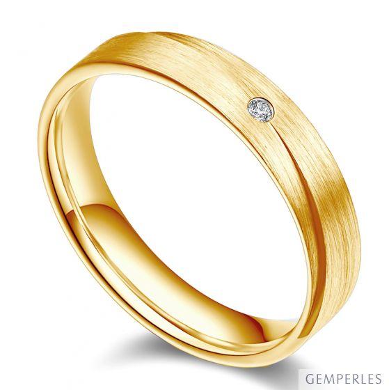 Alliance Sillage Amoureux Homme - Or Jaune, Diamants | Gemperles