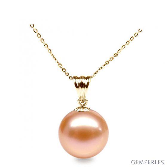 Ciondolo Mélodie - Oro Giallo 18kt e Perla d'Acqua Dolce Rosa