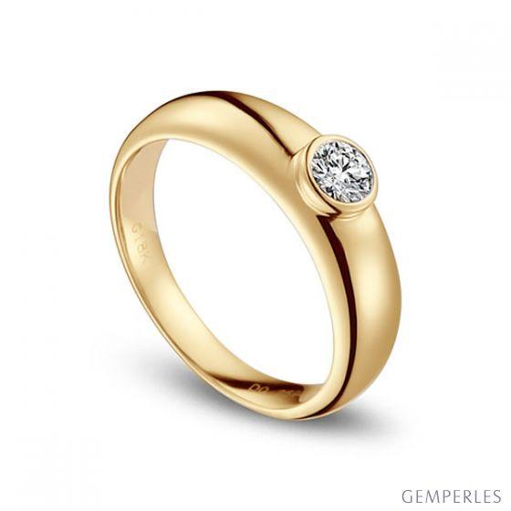 Alliance Homme. Or jaune. Diamant 0.30ct   Martens