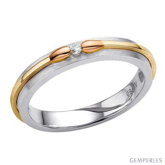 Alliance 3 ors pour Femme. Collection des Allumettes diamantées   Larissa