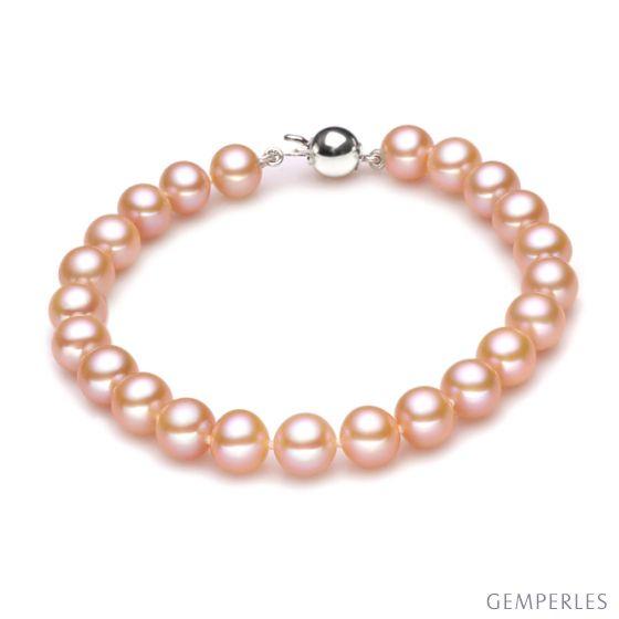 Bracelet - Bracelet perles roses - Perles de culture Chine - 7.5/8mm
