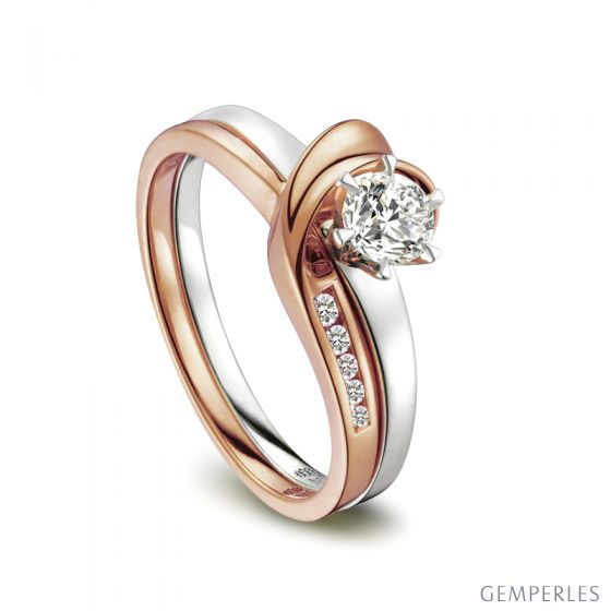 Bague Louis Aragon - Nous Dormirons Ensemble - Or Blanc, Rose | Gemperles