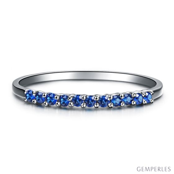 Anneau Or blanc 18 carats, Saphir I Pretty little stars I Gemperles