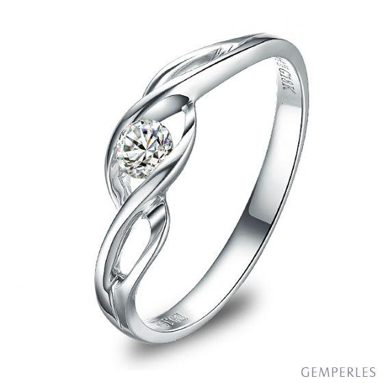 Solitaire Taylor - Diamant Maille Croisée - Platine | Gemperles
