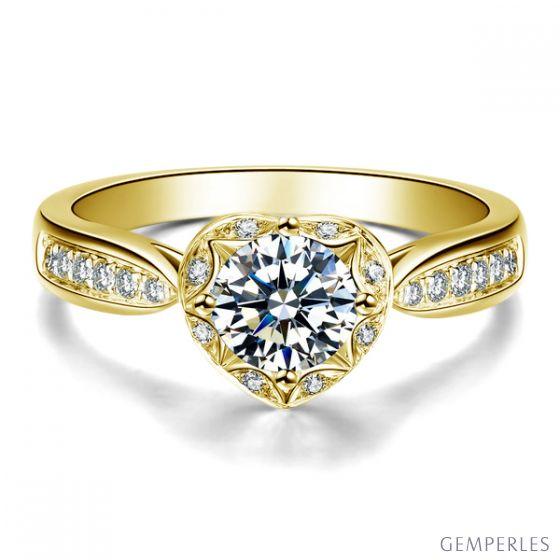 Anello Solitario Your Best Friend - Oro Giallo & Diamanti | Gemperles
