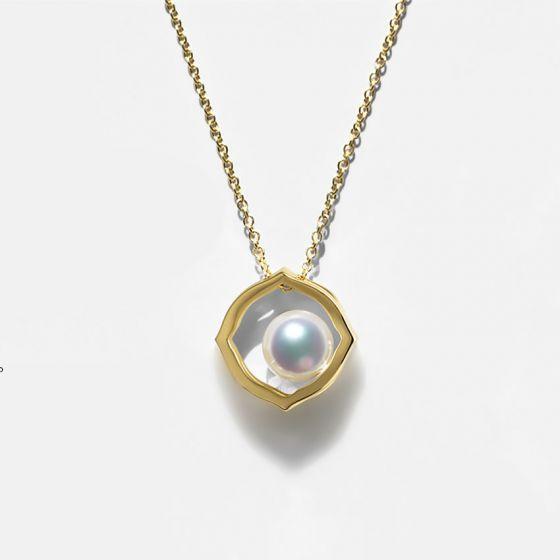 Pendentif perle de culture Akoya - Coco Chanel - Or jaune