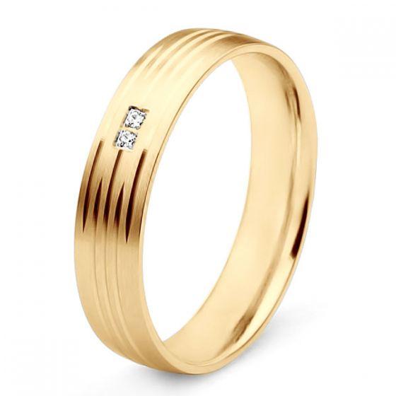 Alliance pour femme - Or jaune et diamants   Une vie avec toi