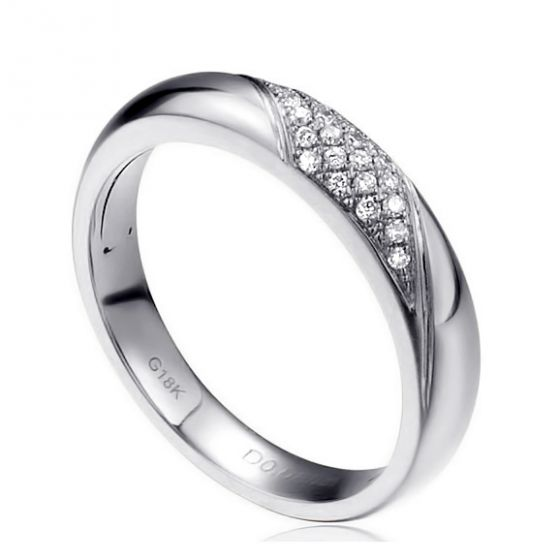 Alliance femme constellation - Or blanc - Diamants   Autour de moi pour madame