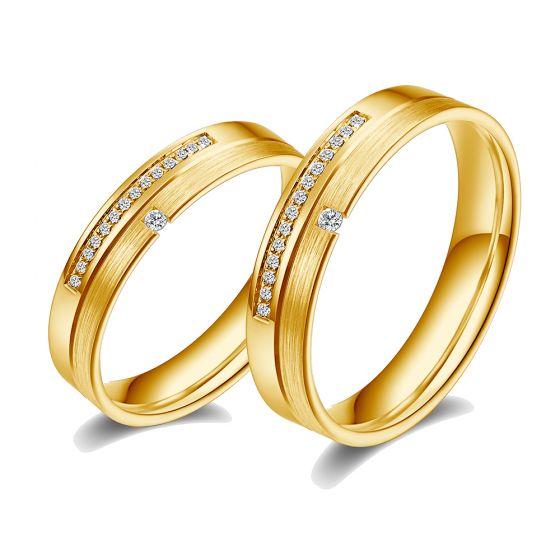 Alliances Duo Tourbillon de la vie. Or jaune, diamants