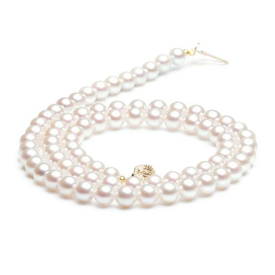 Collier perles de culture - Perle eau douce blanche - 5/5.5mm - AAA