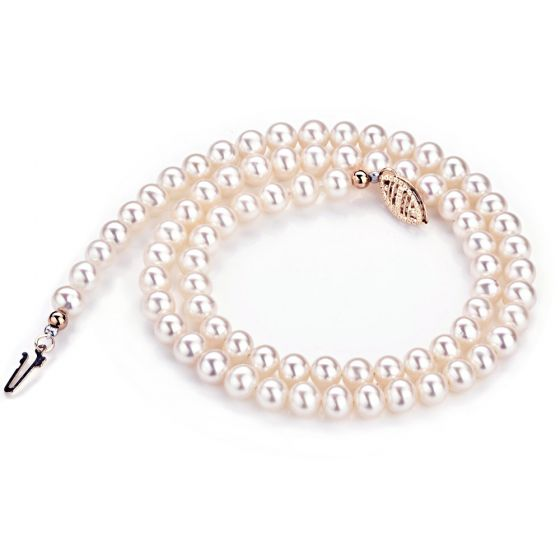 Collier perles de culture blanches Mariage 5/5.5mm, AA+