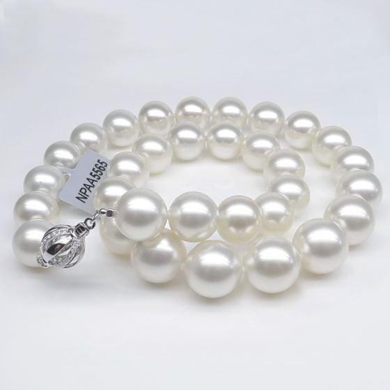 Collier perles des mers du sud blanches - Perle Australie 12/14mm
