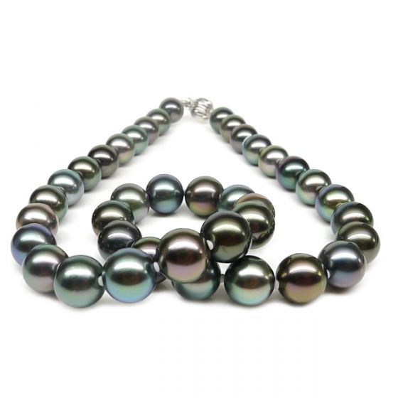 Collier en perles multicolores de Tahiti - 9/11mm, AAA