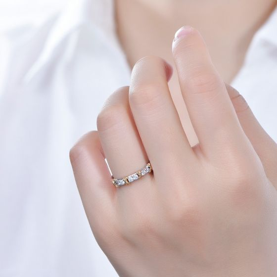 Bague X MODE - 2 ors Diamants