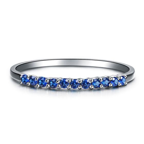 Anneau Or blanc 18 carats, Saphir I Pretty little stars I Gemperles
