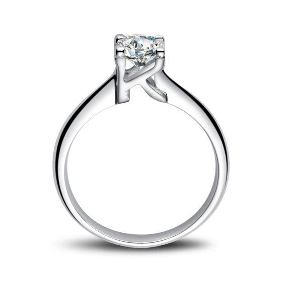 Bague en forme de lettre - initiale K - Diamant, or blanc | Gemperles