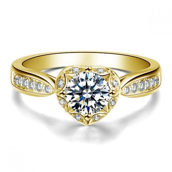 Bague Solitaire Your Best Friend - Or Jaune 18 Carats & Diamants | Gemperles
