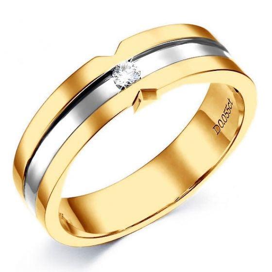 Bague Homme en Or jaune et  blanc, Diamant 0.055ct | Horace