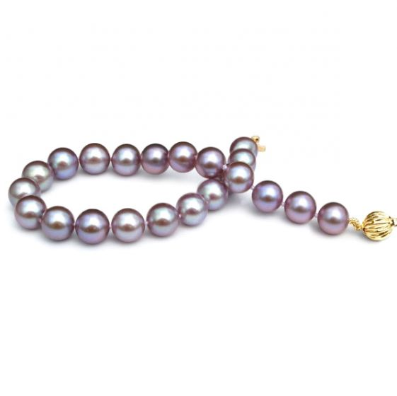 Bracelet Perles de Culture Lavande Eau Douce.  7.5/8mm, AAA