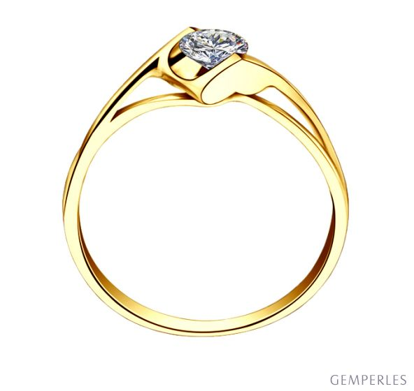 Solitaire Diamant. Victor Hugo, A Jeanne. Or Jaune | Gemperles