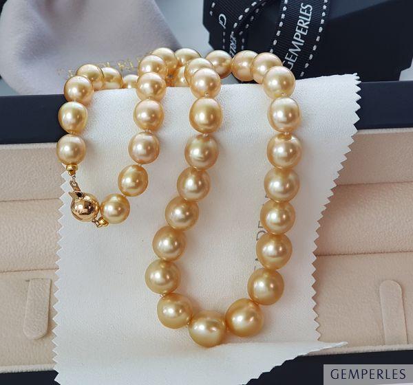Collier Perles Dorées Philippines - Audrey Hepburn