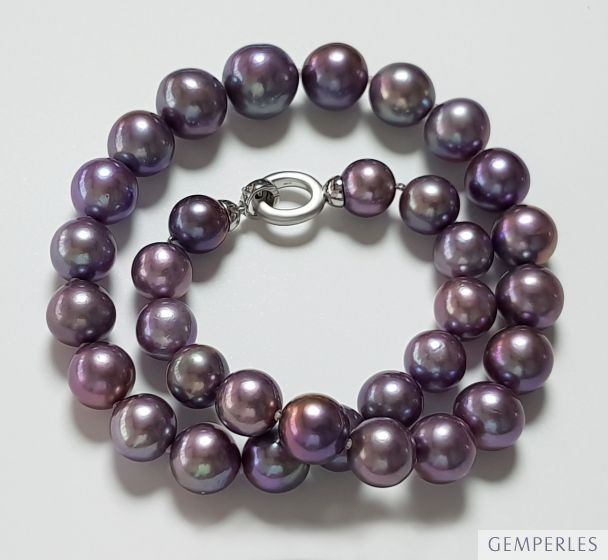 Collier perles de culture lavande. AA+/AAA, 12/15mm I Arletty