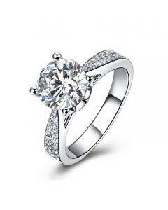 Anello di Fidanzamento Lafayette - Diamante Solitario su Oro Bianco 18k   Gemperles