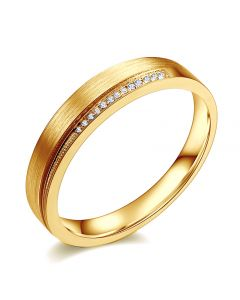Alliance Femme, Une pointe d'amour. Or et diamants