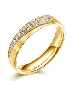 Alliance Sillage Amoureux Femme - Or Jaune, Diamants | Gemperles