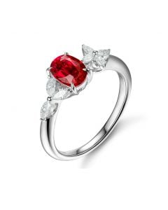 Bague La Esmeralda Rubis Or blanc Diamants