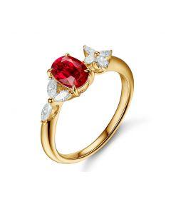 Bague La Esmeralda Rubis Or Jaune Diamants