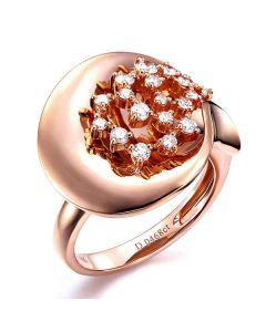 Création de bague - Joaillerie bague or rose - 19 Diamants 0.468ct