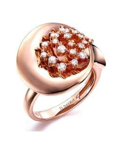 Création de bague - Joaillerie bague or rose - 19 Diamants 0.468ct